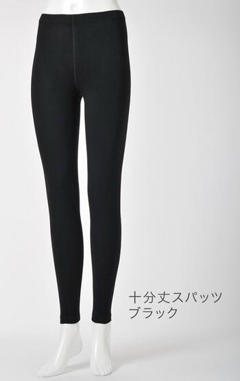 【竹布】 TAKEFU 十分丈スパッツ・レディース、M〜L、ブラック
