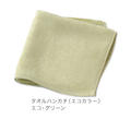 【竹布】 TAKEFU タオルハンカチ、23x23cm、エコ・グリーン(# 8257)