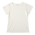 【竹布】 TAKEFU 半袖Tシャツ・レディース、M、オフホワイト(# 8259)