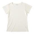 【竹布】 TAKEFU 半袖Tシャツ・レディース、L、オフホワイト(# 8260)