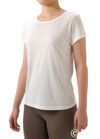 【竹布】 TAKEFU 半袖Tシャツ・レディース、L、オフホワイト