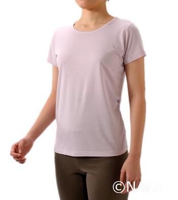 【竹布】 TAKEFU 半袖Tシャツ・レディース、M、ラベンダー
