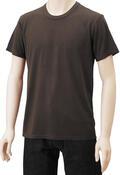【竹布】 TAKEFU 半袖Tシャツ・メンズ、M、ブラウン(# 8269)