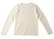 【竹布】 TAKEFU 長袖Tシャツ・レディース、M、オフホワイト(# 8306)4,500 円