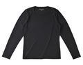 【竹布】 TAKEFU 長袖Tシャツ・レディース、L、ブラック(# 8309)