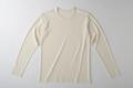 【竹布】 TAKEFU 長袖Tシャツ・メンズ、M、オフホワイト(# 8310)