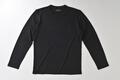 【竹布】 TAKEFU 長袖Tシャツ・メンズ、L、ブラック(# 8313)