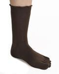 【竹布】 TAKEFU 5本指ソックス・レディース、23〜25cm、チョコレート(# 8333)
