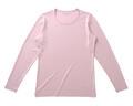 【竹布】 TAKEFU 長袖Tシャツ・レディース、L、ラベンダー(# 8353)