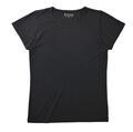【竹布】 TAKEFU 半袖Tシャツ・レディース、L、ブラック(# 8359)
