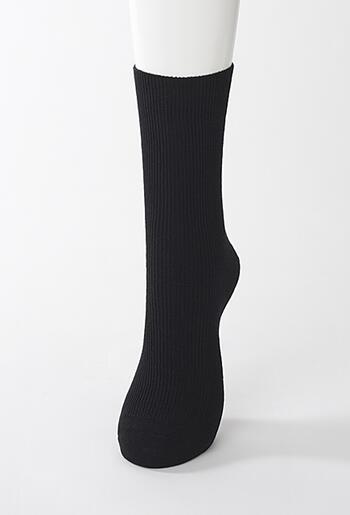 【竹布】 TAKEFU ソックス(男女兼用)、25〜27cm、ブラック