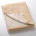 【竹布】 TAKEFU バスタオル(パイル)、70x140cm、ベージュ(裏面はホワイトのパイルで、リバーシブル仕様です)(# 8493)