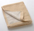 【竹布】 TAKEFU フェイスタオル(パイル)、35x88cm、ベージュ(裏面はホワイトのパイルで、リバーシブル仕様です)(# 8494)