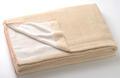 【竹布】 TAKEFU タオルケット(パイル)、140x200cm、ベージュ(裏面はホワイトのパイルで、リバーシブル仕様です)(# 8495)