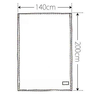 【竹布】 TAKEFU タオルケット(パイル)、140x200cm、ベージュ(裏面はホワイトのパイルで、リバーシブル仕様です)