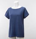 【竹布】 TAKEFU ★半袖Tシャツ・レディース、ネイビー、L(# 8562)
