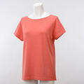 【竹布】 TAKEFU ★半袖Tシャツ・レディース、コーラルオレンジ、M(# 8565)