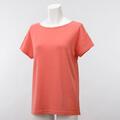 【竹布】 TAKEFU ★半袖Tシャツ・レディース、コーラルオレンジ、L(# 8566)
