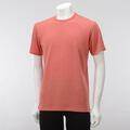 【竹布】 TAKEFU ★半袖Tシャツ・メンズ、コーラルオレンジ、L(# 8574)