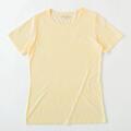 【竹布】 TAKEFU 半袖Tシャツ・レディース、L、クリーム(# 8623)