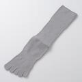 【竹布】 TAKEFU 5本指ソックス(男女兼用)、ライトグレー、25〜27cm(# 8675)